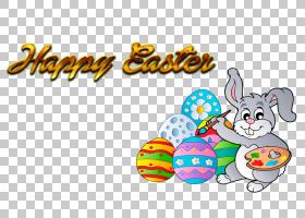 复活节兔子复活节彩蛋,复活节快乐2018年PNG剪贴画食品,假期,文本