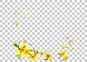 盖蒂的卡通插图,黄色花PNG剪贴画叶,摄影,科,黄色花,植物茎,树枝,