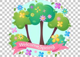 春天粉红色横幅PNG剪贴画其他,叶,文本,计算机壁纸,生日快乐矢量