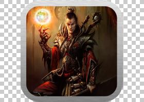 暗黑破坏神III:灵魂死神巫师视频游戏,和尚PNG剪贴画游戏,电脑壁