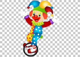 小丑股票摄影,逗人喜爱的小丑,小丑骑单轮脚踏车例证PNG clipart