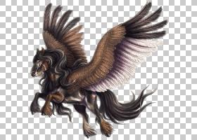 Euclidean,Pegasus PNG剪贴画马,画,手,生日快乐矢量图像,卡通,封