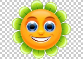 笑脸花,笑脸花的PNG剪贴画脸,笑脸,卡通,花卉,图释,互联网论坛,笑