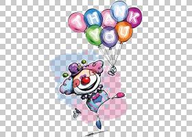 海报小丑插图,拿气球的小丑PNG剪贴画水彩画,画,手,摄影,心,气球,