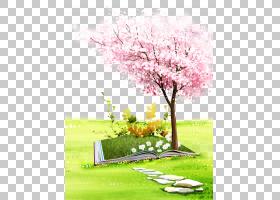 海报樱花计算机文件,粉红色的樱花树PNG剪贴画水彩画,漫画,其他,