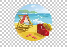 热带岛屿度假村海滩夏季,海滩PNG剪贴画电脑壁纸,海滨度假村,卡通
