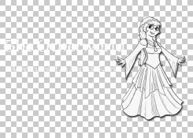 绘制线条艺术卡通连衣裙素描,其他PNG剪贴画杂项,白色,龙,手,其他