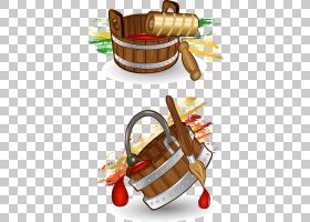 绘画卡通斗,油漆工具PNG剪贴画水彩绘画,棕色,食品,手绘花卉,生日