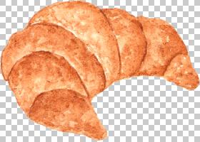 羊角面包卡通,羊角面包PNG剪贴画质地,烘焙食品,棕色,食品,手,美