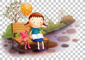 桌面卡通插画家,孩子们背景PNG剪贴画杂项,儿童,阅读,蹒跚学步,其
