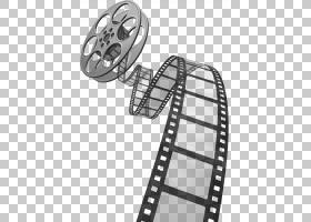 摄影胶片卷轴,电影胶片,银色和黑色电影条带和卷轴PNG剪贴画角度,