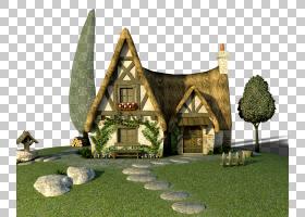 Home House,Elf House PNG剪贴画小精灵,房子,草,卡通,deviantART
