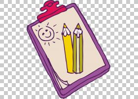 儿童绘画,书籍PNG剪贴画紫色,文本,矩形,卡通,粉色,纸,线,绘图板,