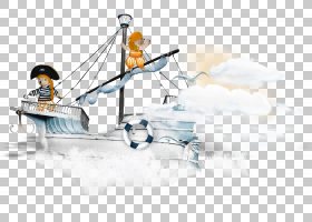 发货PNG剪贴画盗版,封装PostScript,运输,船只,货船,卡通海盗船,