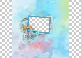 卡通,框架模板设计,承认一张票PNG剪贴画框架,蓝色,金色框架,时尚