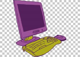 卡通,计算机PNG剪贴画紫色,紫罗兰色,电脑,卡通,洋红色,下载,设计