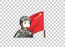 卡通士兵绘图插图,红旗武装注意PNG剪贴画漫画,标志,手,单词短语,
