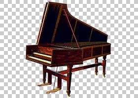 大键琴乐器小提琴钢琴,钢琴PNG剪贴画家具,数码钢琴,钢琴卡通,复