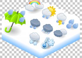 天气卡通图标,天气模式PNG剪贴画伞,云,计算机壁纸,几何图案,复古