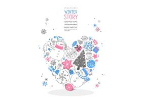 手绘冬天故事主题插画设计
