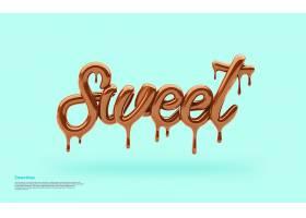 清新甜蜜巧克力主题创意背景设计