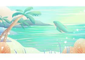 唯美意境手绘鲸鱼插画