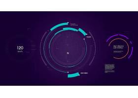 创意科技感主题海报背景设计