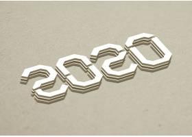 202个性字体设计新年元素标签设计