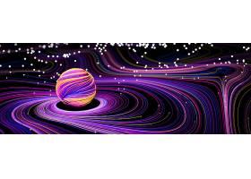 创意炫彩扭动星空螺旋抽象背景海报设计