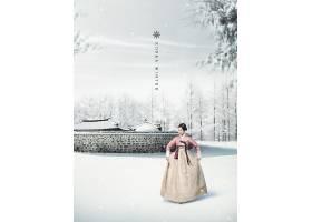 雪景中的美女