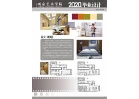 通用创意毕业设计作品海报展板模板