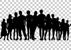 大家庭的孩子,卡通人群PNG剪贴画人民,团队,公共关系,单色,人类,