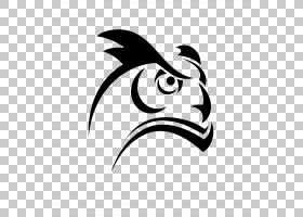 大角Ow,猫头鹰PNG剪贴画动物,徽标,脊椎动物,单色,头,猫头鹰,卡通