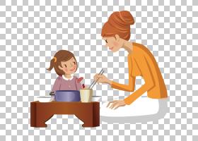 孩子母亲吃,陪孩子吃PNG剪贴画孩子,人民,公共关系,幼儿,厨师,卡
