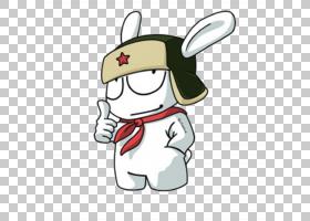 Redmi 3小米米5 MIUI智能手机,迷你,白兔插图PNG剪贴画白色,电子