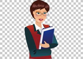 广告计算机文件,戴眼镜和拿着短发女孩PNG剪贴画玻璃,人民,阅读,