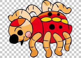 动物卡通可爱插画瓢虫PNG剪贴画食品,昆虫,生日快乐矢量图像,卡通