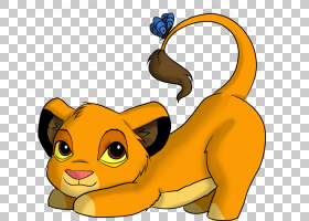 Simba Scar Nala Shenzi Lion,卡通母狮PNG剪贴画哺乳动物,猫像哺