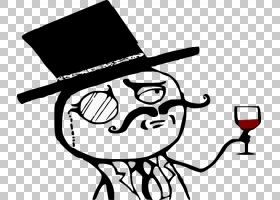Monocle Gentleman,绅士PNG剪贴画白色,帽子,徽标,顶帽子,单色,虚