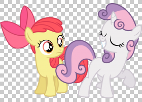 Pony Scootaloo Sweetie Belle Horse,好看的PNG剪贴画马,哺乳动