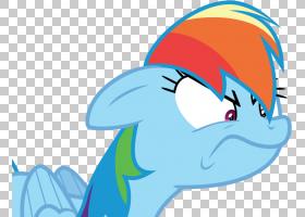 Rainbow Dash Derpy Hooves My Little Pony,破折号PNG剪贴画蓝色