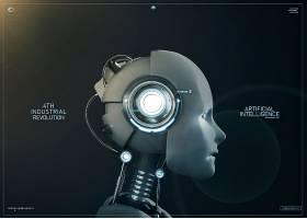 创意未来科技智能人主题海报设计