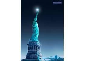 创意未来科技自由女神像主题海报设计