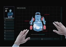 创意未来科技汽车驾驶主题海报设计