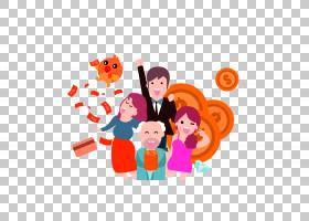 中国新年元旦红包,卡通人物红包金币装饰图案PNG剪贴画杂项,儿童,