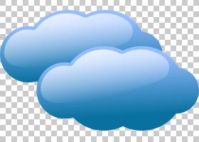 云免费内容,可爱的云PNG剪贴画蓝色,心脏,计算机壁纸,云计算,卡通