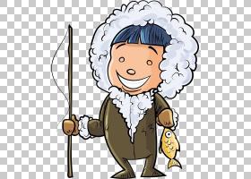 美国爱斯基摩狗卡通插图,卡通儿童钓鱼PNG剪贴画卡通人物,孩子,脸