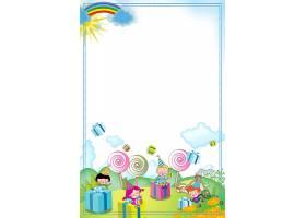 六一儿童节海报可爱插画背景模板