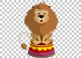 马戏团绘图,马戏团PNG剪贴画杂项,哺乳动物,猫像哺乳动物,食肉动