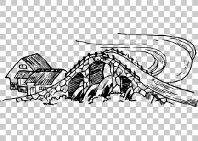绘制线条艺术,桥PNG剪贴画角度,哺乳动物,摄影,脊椎动物,单色,桥,